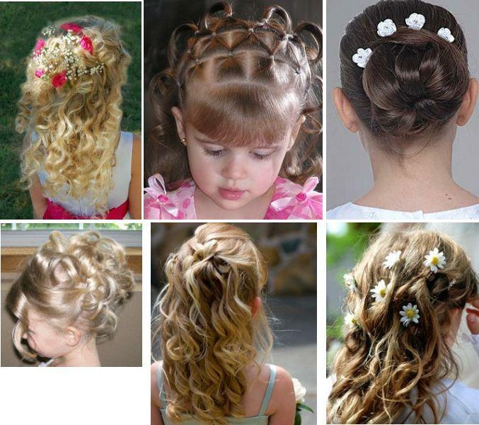 Diversos penteados para daminhas