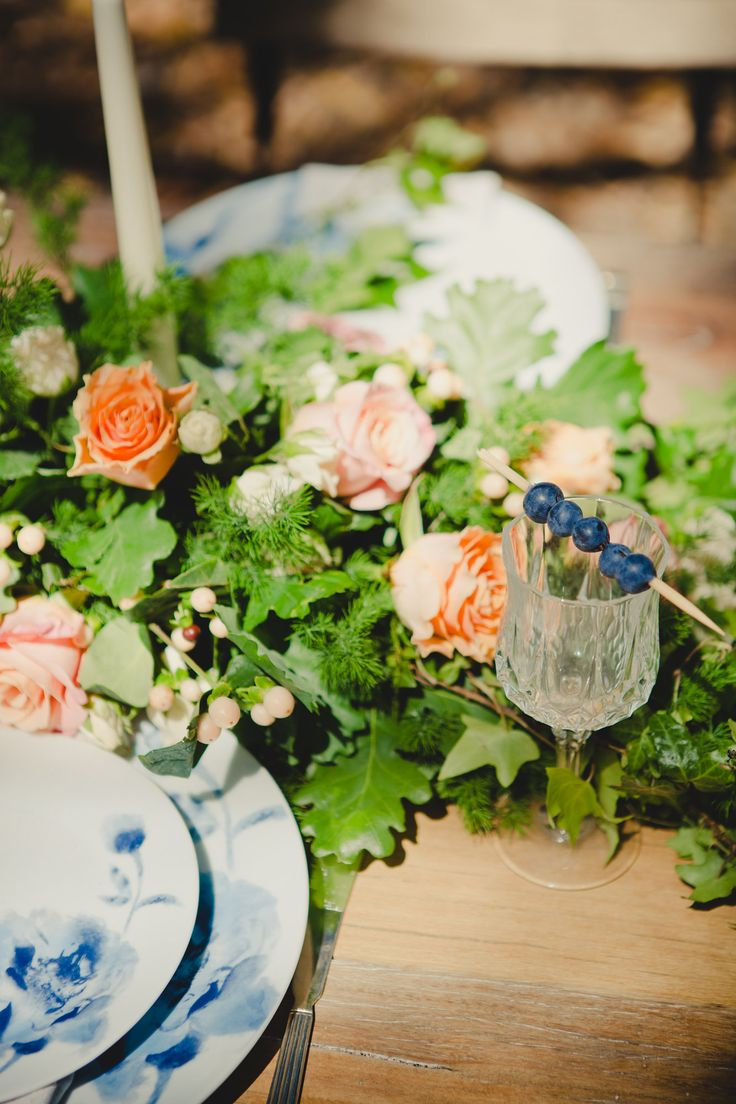 AAWEP styled shoot, blue and white china