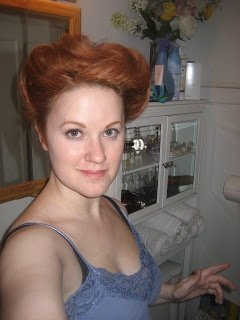 Try the Gibson Girl Hair Tutorial. I like this one because her hair isn't crazy long.
