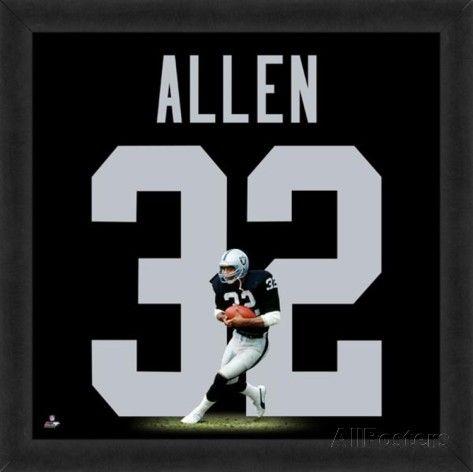 Marcus Allen, Raiders representation of the player's jersey Framed Memorabilia