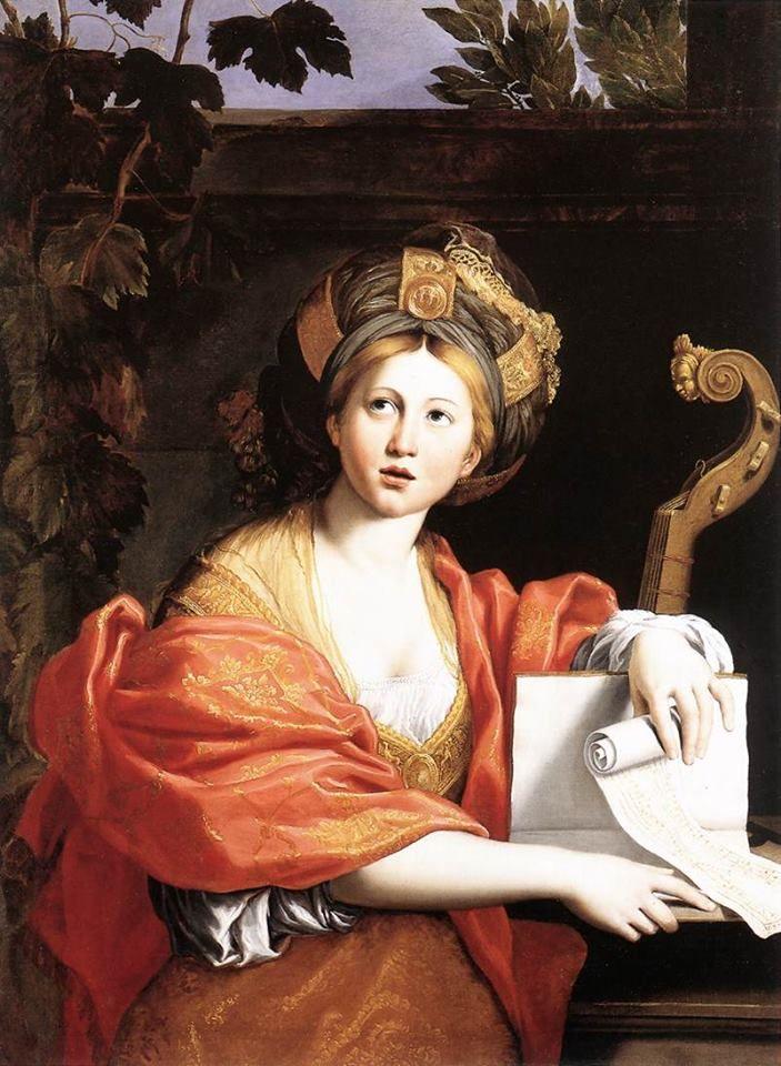 Domenichino, Sibilla Cumana (1617). Primo dipinto di una serie dedicato alla figura della Sibilla, è conservato alla Galleria Borghese di Roma. La spiegazione completa dell'opera: http://www.finestresullarte.info/operadelgiorno/2014/251-domenichino-sibilla-cumana.php