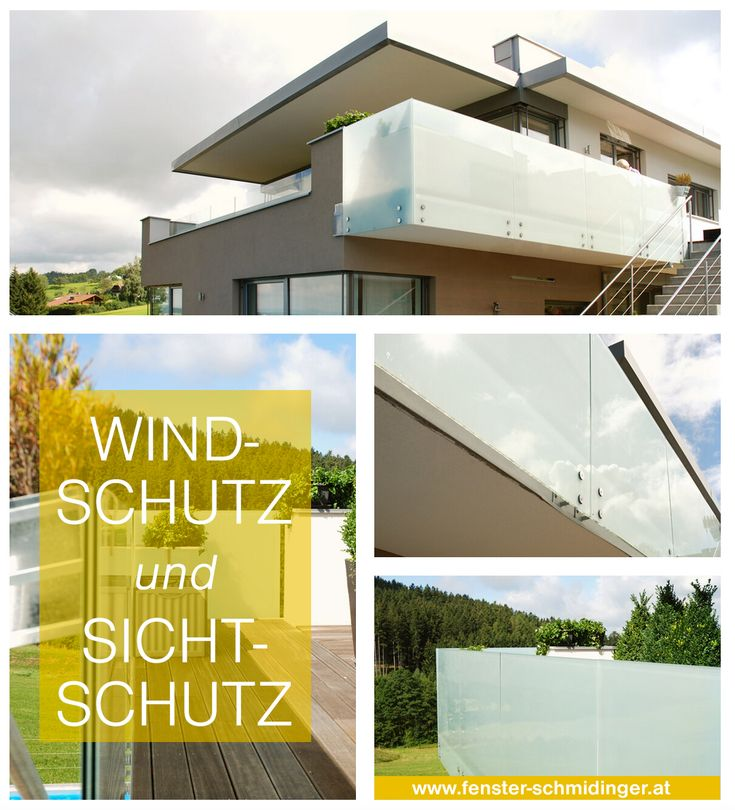 Die besten 25+ Sichtschutz aus glas Ideen auf Pinterest - 28 ideen fur terrassengestaltung dach