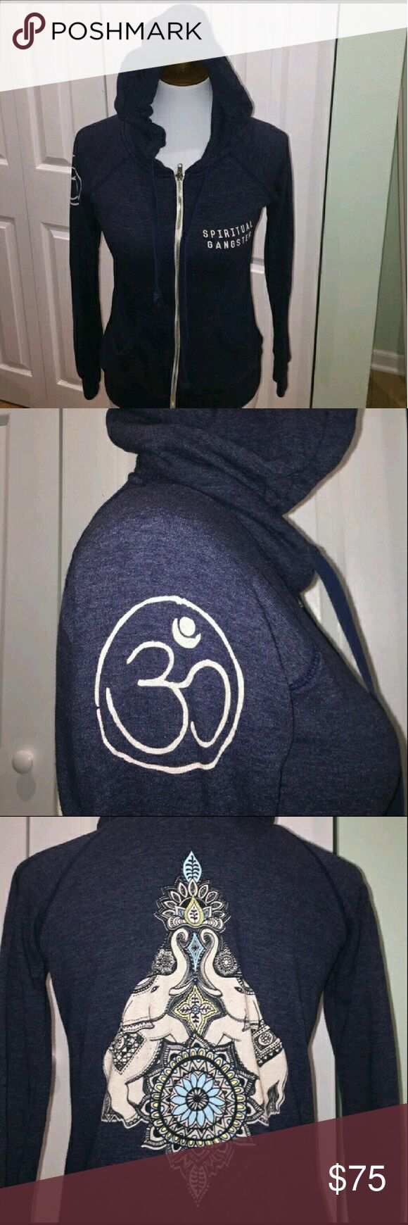 Spiritual gangster zip up Spiritual gangater hoodie. EUC worn one time, washed and dryed flat. spiritual gangster Tops Sweatshirts & Hoodies
