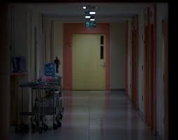 empty dark hallways are the key to a horror most of the time whether it a school hallway or a hospital one, it still creates a scary setting/moment/scene in the movie/