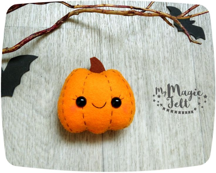 halloween pumpkin felt ornament halloween decor gifts halloween decorations felt ornaments pumpkin cute halloween gifts by mymagicfelt on etsy - Cute Halloween Decorations