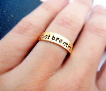 Meditate Just Breathe Ring