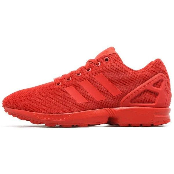 adidas Originals ZX Flux ($93) ❤ liked on Polyvore featuring men's fashion, men's shoes, red, mens lightweight running shoes, mens retro shoes, mens breathable shoes, mens red shoes and mens monk strap shoes