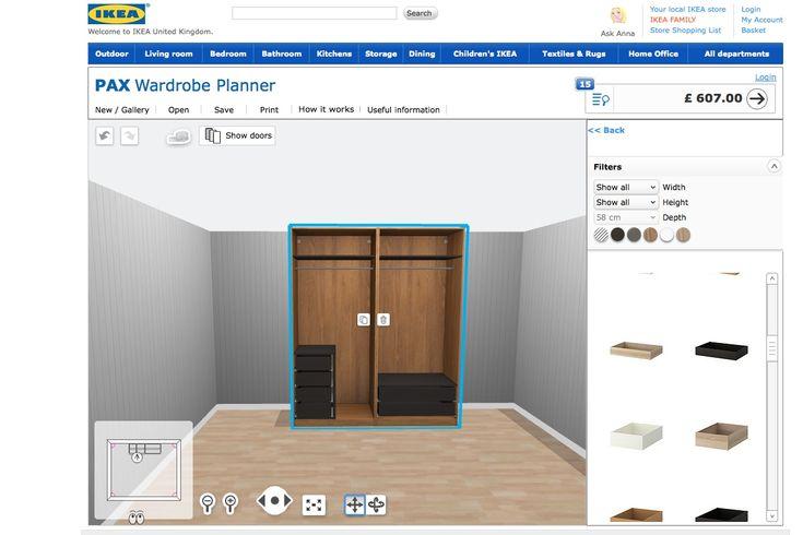 25+ best ideas about Pax Wardrobe Planner on Pinterest  Ikea wardrobe storag...