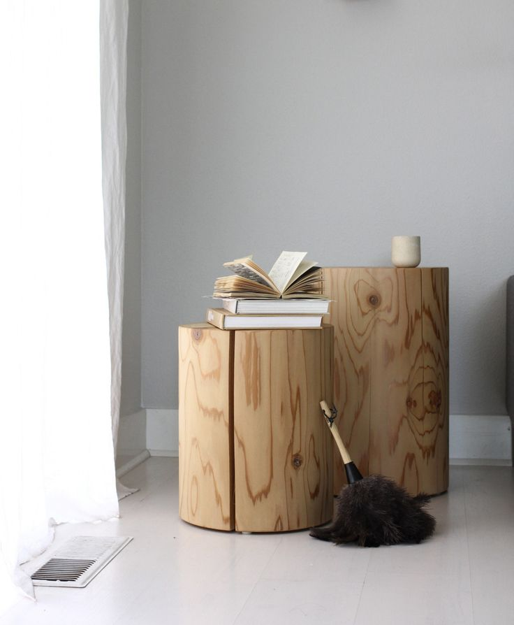 These would make perfect bedside tables too, paired with a floor lamp and glass carafe.