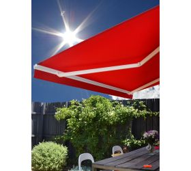 Motorised Retractable Awning with wind sensor and other great features.