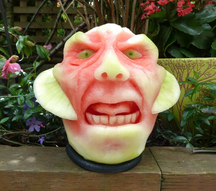 The butler did it watermelon carving by