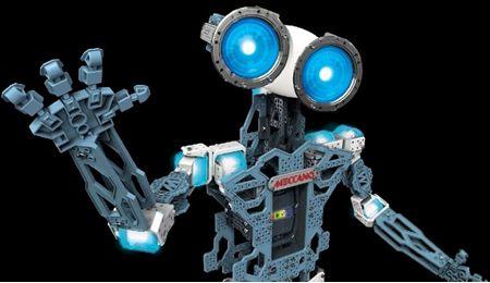 """Meccanoid G15 KS is je persoonlijke robot vriend die je bouwt met behulp van de nieuwste Meccano onderdelen. Het is een geavanceerde, maar eenvoudig te gebruiken, open source Robotic Building platform. De meccanoid robot gebruikt zijn onboard """"Mekka Brain"""" en spraakherkenning om duizenden zinnen te zeggen, moppen te vertellen, leuke weetjes te delen en spelletjes te spelen."""