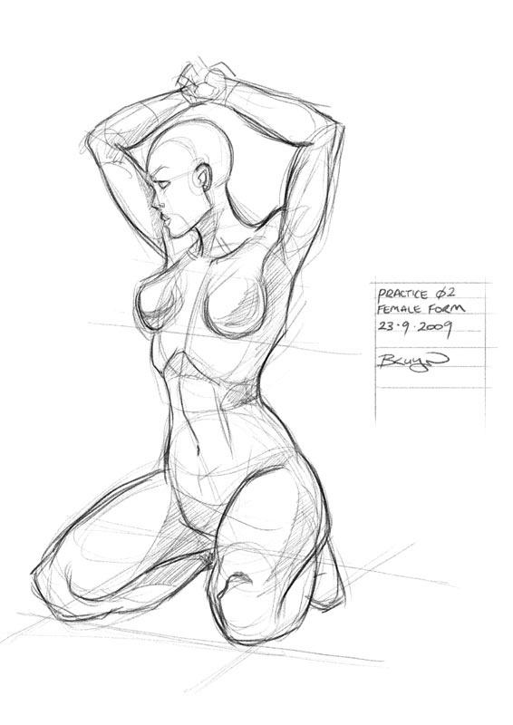 Sketch Practice by Craig Bruyn, via Behance