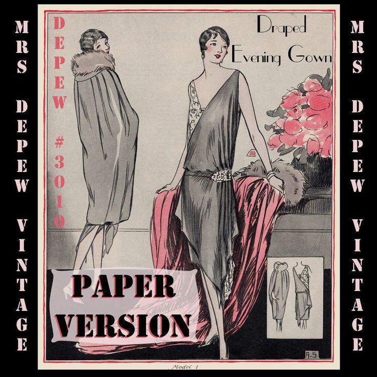 Free 1920s evening dress pattern