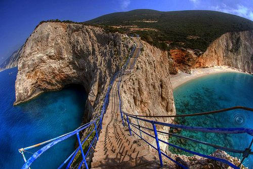 I'd like to do a morning run here. Porto Katsiki in Lefkada, Greece