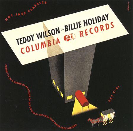 Teddy Wilson - Billie Holiday, 78 rpm album Columbia early 40s   Design by alex Steinweiss