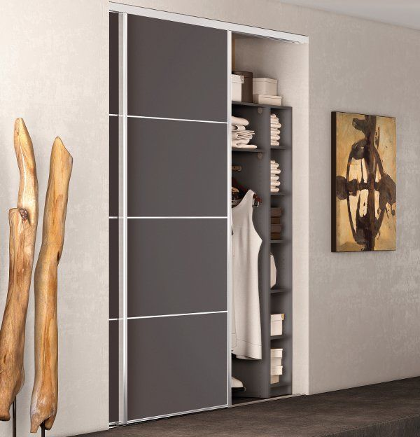 Spaceo Placard Coulissant. Paires Extensible Coulissant Spaceo