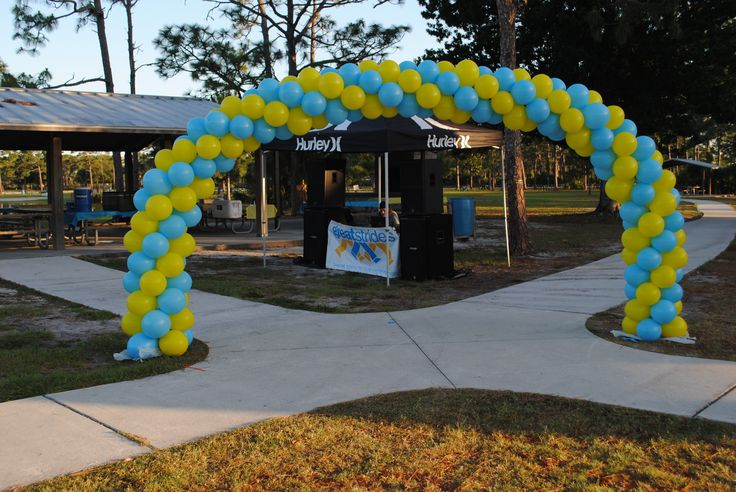 balloon arch dercoations for events in orlando florida by Amusement with a Twist