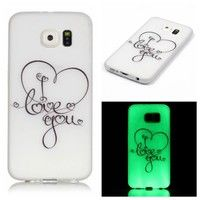 Wish | Lovely Red Heart Style Luminous Glow In The Dark Case TPU Case Cover Drop Resistance Phone Back Case Compatible For iPhone 5 5S SE 6 6S Plus 7 7 Plus/Samsung Galaxy S5 S6 Edge Plus S7 Edge/Grand Prime G530/Core Prime G360/Note 5 A310 A510 J510 J710/G5 K5 K7 K8 K10/Huawei P8 P9 Lite