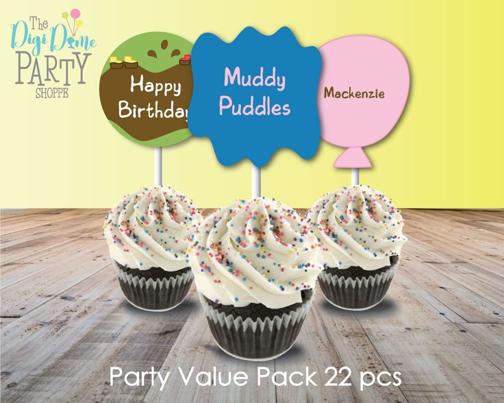 Muddy Puddles Party Pack, Instant Download by The Digi Dame Party Shoppe $19.95AUD