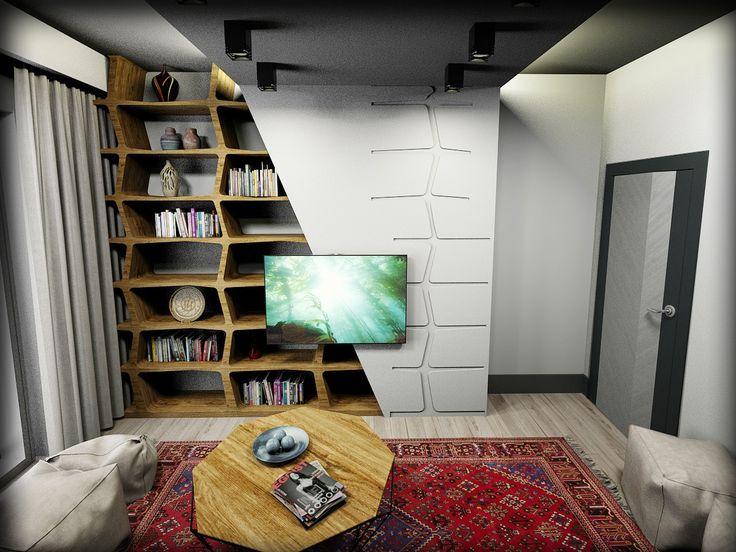 yaşam alanı kitaplık odası