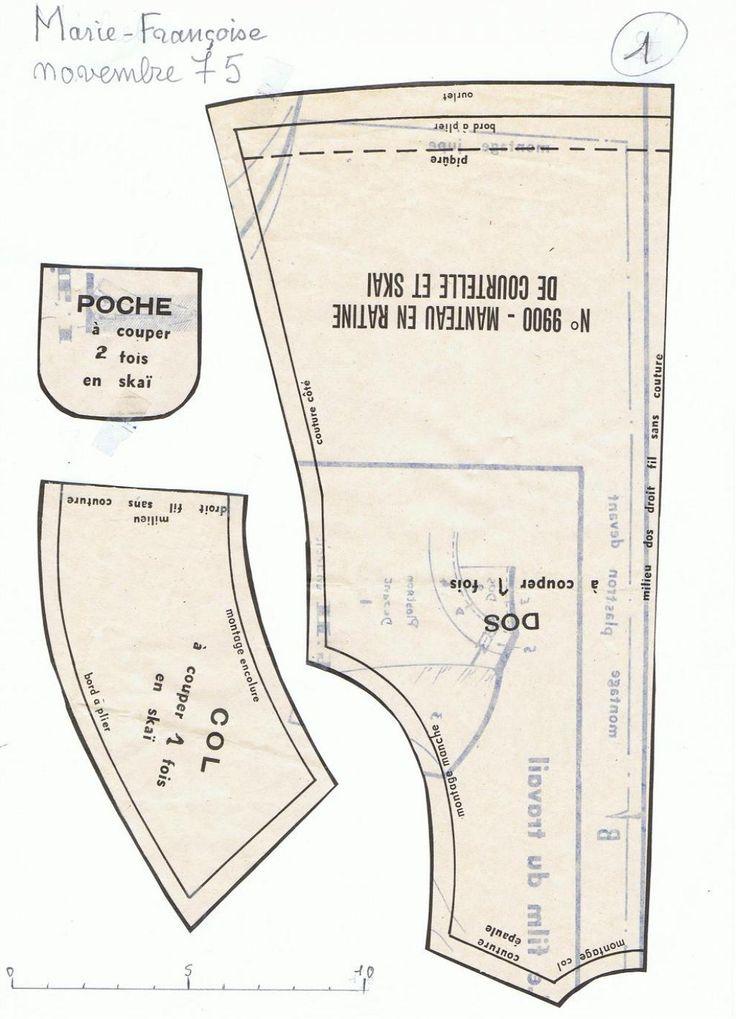 PAR AMOUR DES POUPEES :: M&T 1975-11 manteau Marie-Françoise