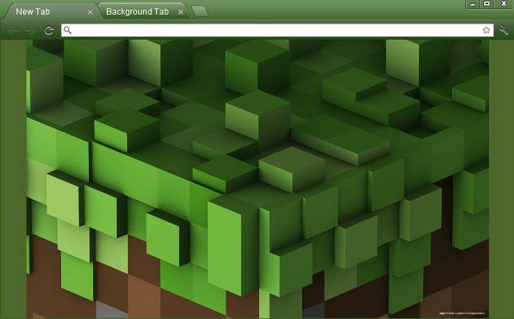 Minecraft Earth Cube Chrome Theme