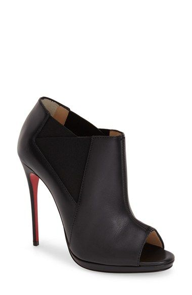 Christian Louboutin 'Bootstagram' Peep Toe Bootie available at #Nordstrom