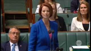 julia gillard misogyny speech video - YouTube