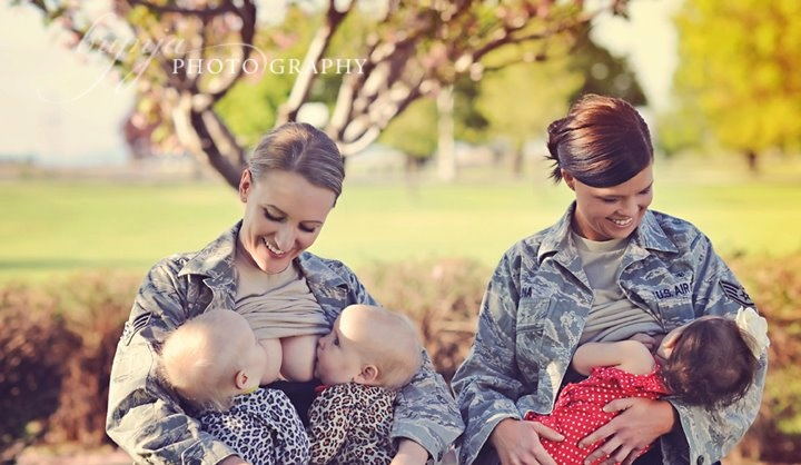 This shoot was done for Mom2Mom: Breastfeeding Support Group in Fairchild Afb, Wa ( the Air Force is not endorsing the photo however, permission was given to take photographs Breastfeeding while in their uniform ) - more information can be found at the photographer's blog at http://www.brynjaphotography.com.