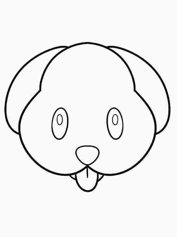 Puppy Emoji Coloring Pages Cartoon Coloring Pages