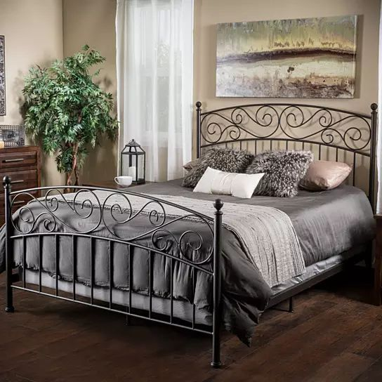 Cecelia King Size Iron Bed In Dark Bronze