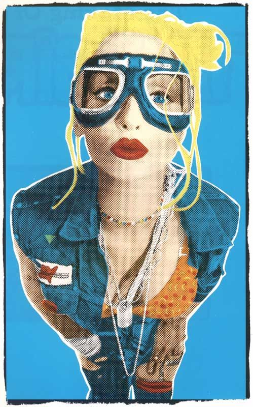 Tank Girl film. Tank girl actress: Lori Petty. Film came out to the world 1995.