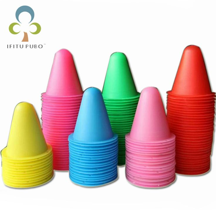 20pcs/lot colorful Skate Pile Cup Windproof Roller Skating Cone Agility Training Marker Slalom Skateboard Marking Cones WYQ #Affiliate
