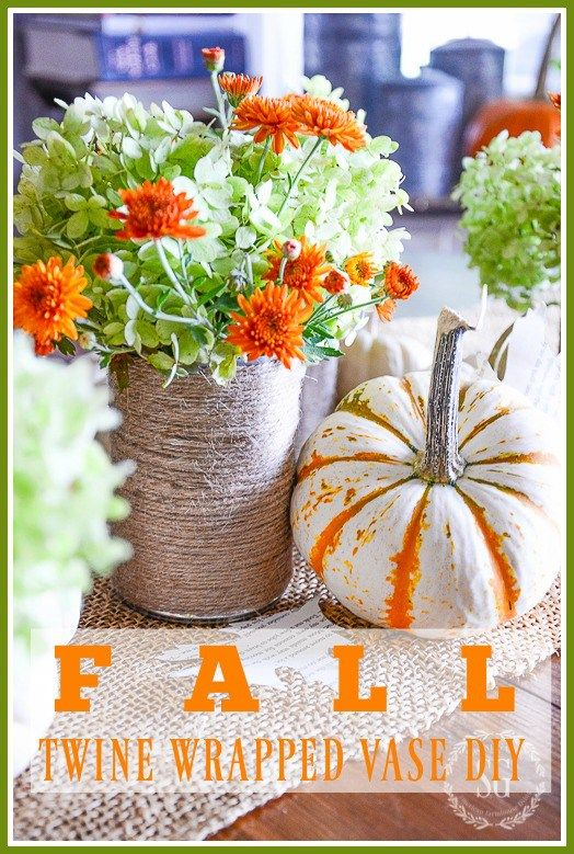 EASY FALL TWINE WRAPPED VASES - StoneGable