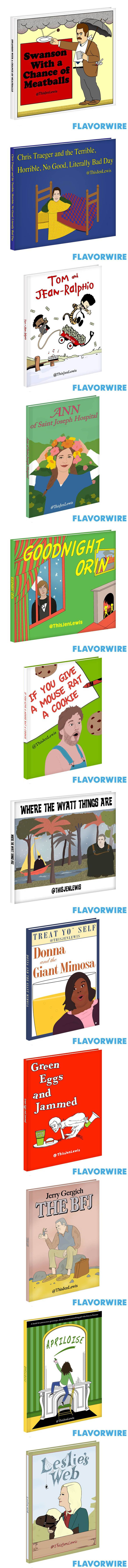 If Parks and Rec. characters were childrens books. I love it! They really need to do this. But hold up, is that Hodor on the cover of Where The Wyatt Things Are?!