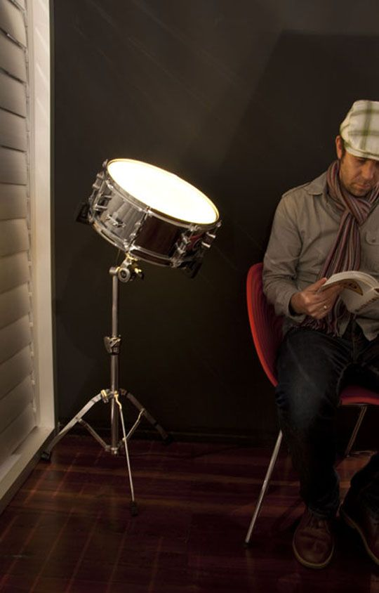the light is made from a drum.  Just one of many great 'new' things at recyclart.org