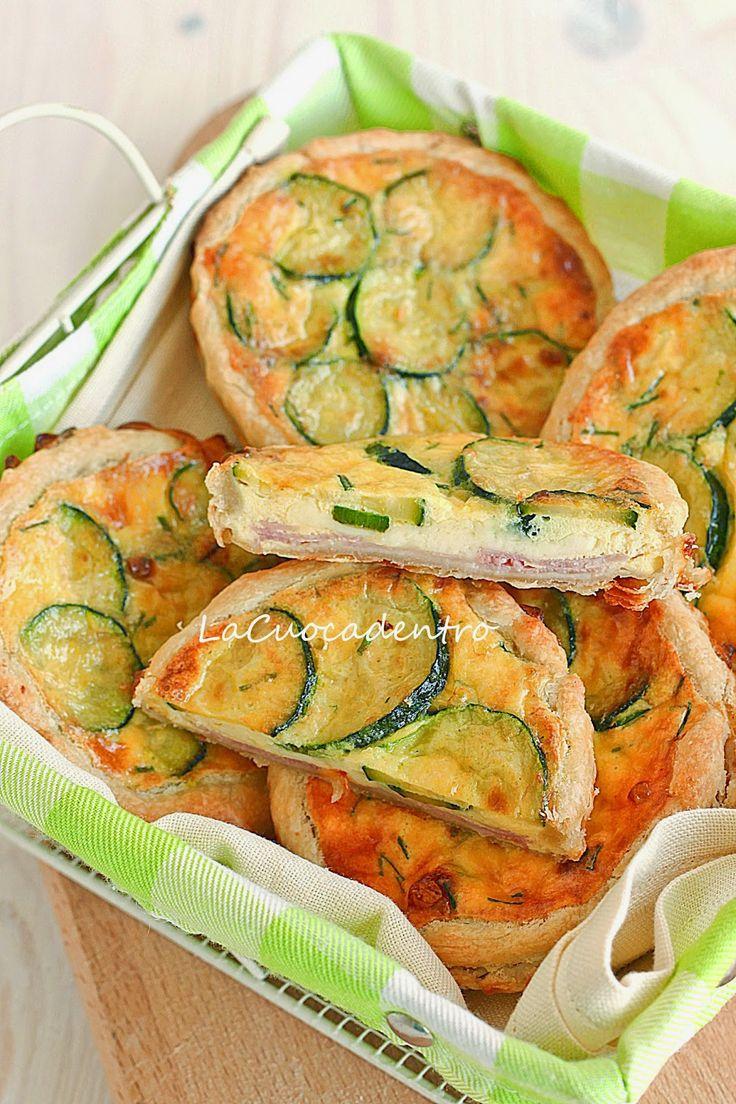 La Cuoca Dentro: Mini quiche alle zucchine, Emmenthal e prosciutto cotto