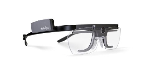 Tobii Pro glasses 2: By using the latest eye-tracking technology with micro-cameras placed on the inside frame of connected eyeglasses, every fixation of an eye could be measured.