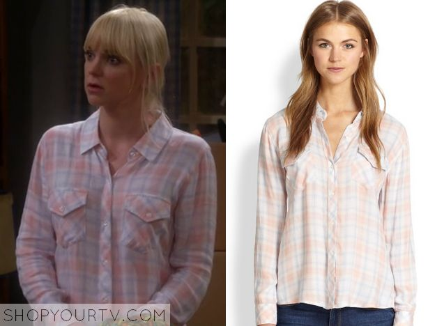 Mom: Season 2 Episode 5 Christy's Pink Plaid Shirt