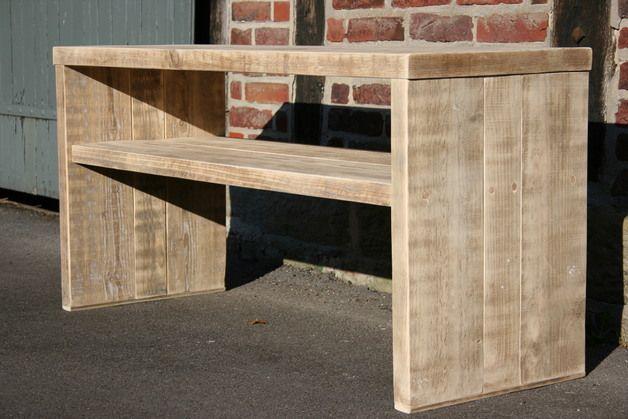 Wandregale - Konsole aus recyceltem ,altem Bauholz,Waschtisch, - ein Designerstück von Linnards bei DaWanda