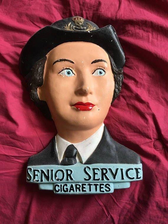 Rare 1930s-40s Vintage Senior Service Cigarettes Advertising Store Display