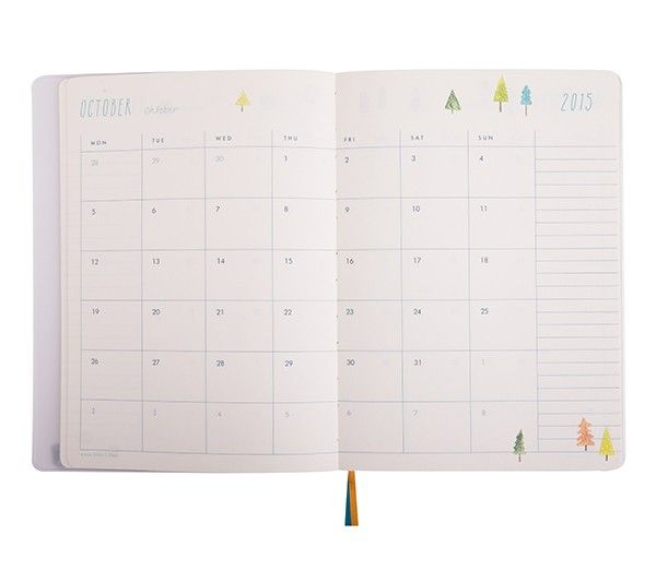 2015 A5 WEEKLY DIARY: SWEET