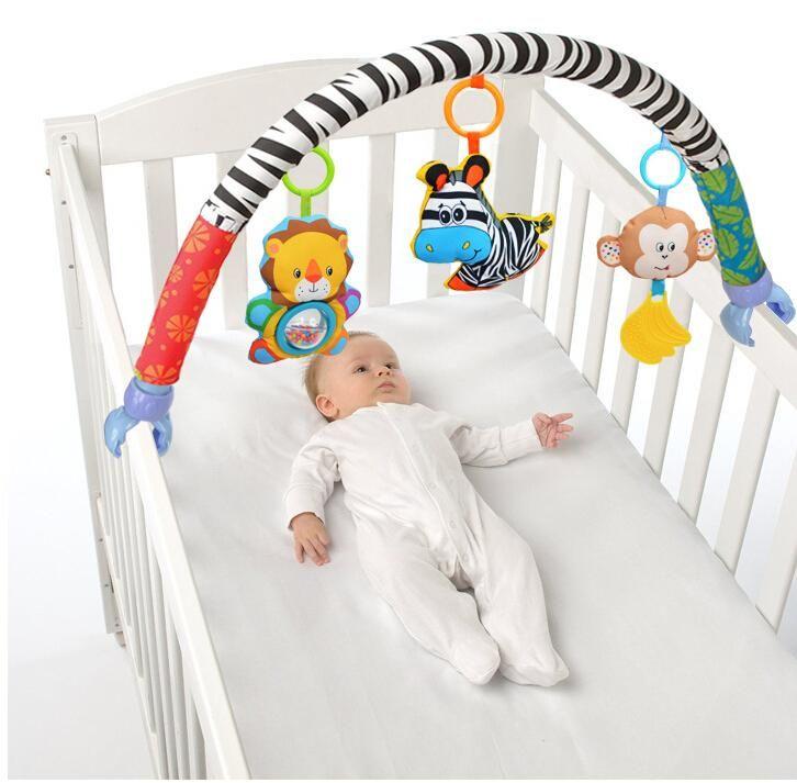 SOZZY Bambino Appeso Giocattoli Letto Passeggino Culla Per Tots Culle sonagli peluche Passeggino Mobile Regali animali Zebra Sonagli 50% off