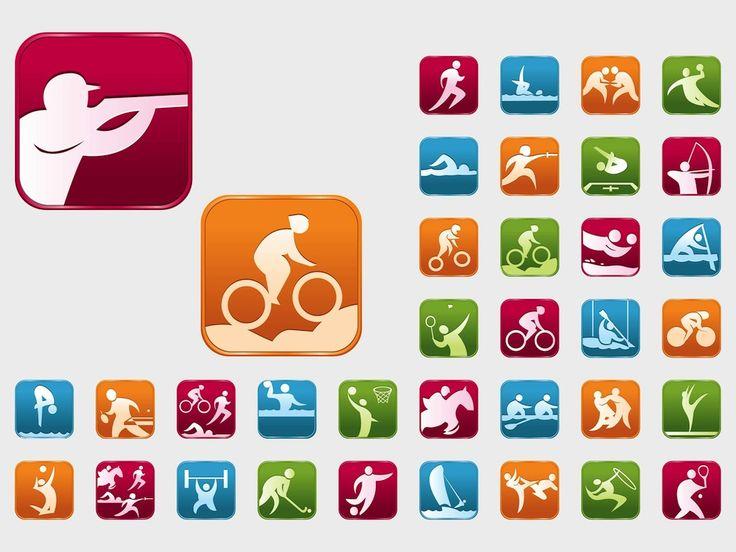 Olympialaisten lajeja kuvataan vastaavanlaisilla kuvituksilla.