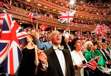 Last Night of the Proms always makes me cry. One of the greatest musical events in England.