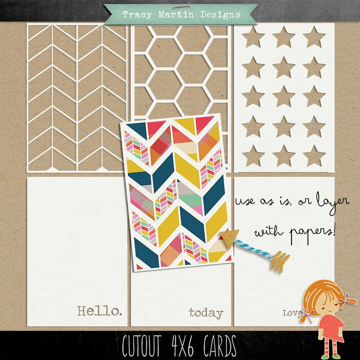 Free Cutout 4 x 6 Journal/Filler Cards from Tracy Martin Designs {on Facebook}