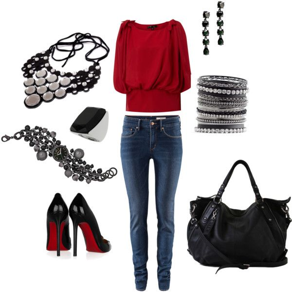 Red and Black Casual