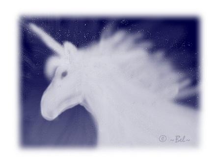 My digital art unicorn