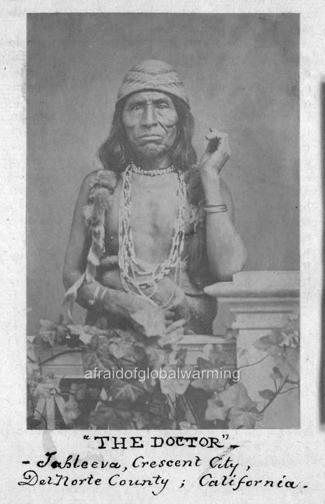 """Old Photo. California. Native American Indian - """"The Doctor"""" 